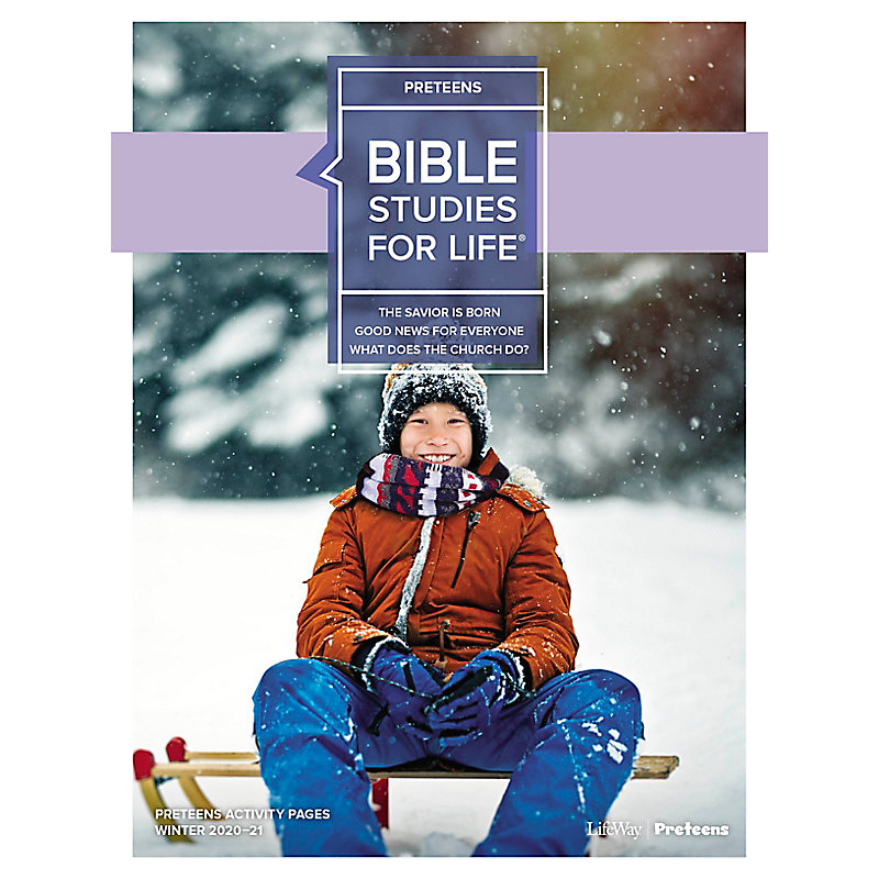 Bible Studies for Life: Preteens Activity Pages - CSB - Winter 2021