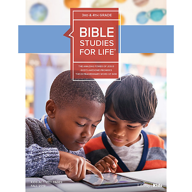 Bible Studies For Life: Kids Grades 3-4 Activity Pages - CSB - Fall 2019