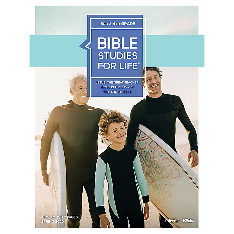 Bible Studies For Life: Kids Grades 3-4 Activity Pages - CSB - Spring 2020