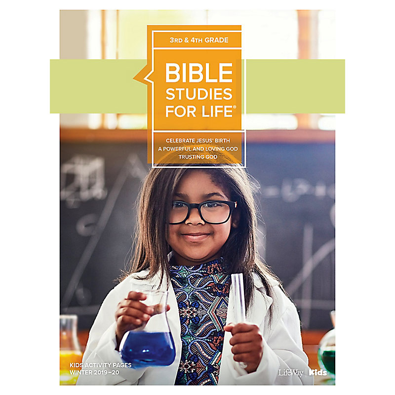 Bible Studies For Life: Kids Grades 3-4 Activity Pages - CSB - Winter 2020