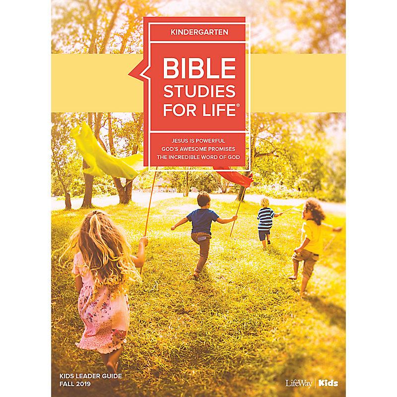 Bible Studies For Life: Kindergarten Leader Guide Fall 2019