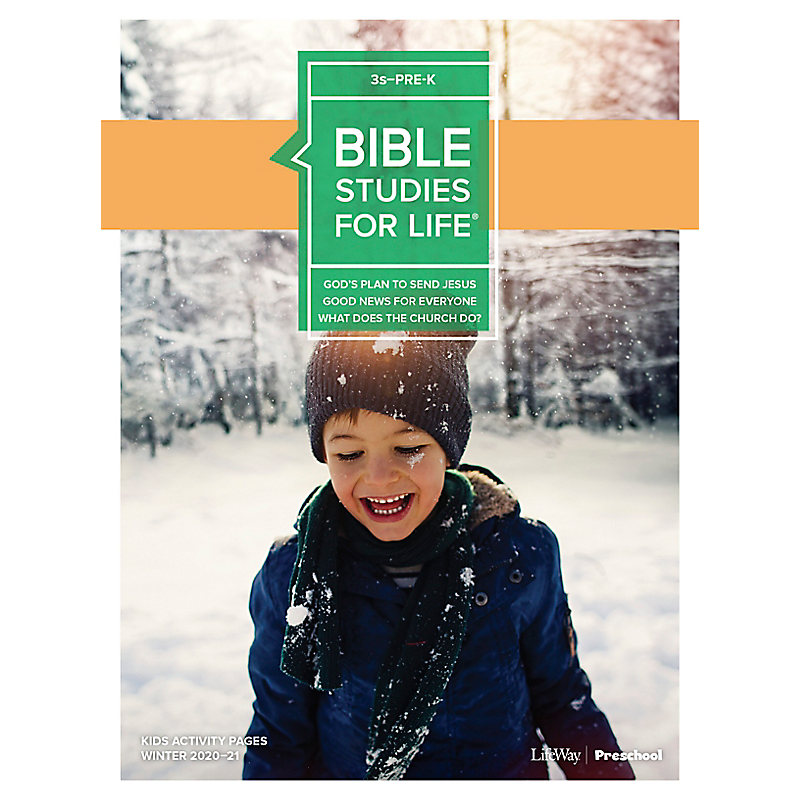 Bible Studies for Life: 3s–Pre-K Activity Pages Winter 2021
