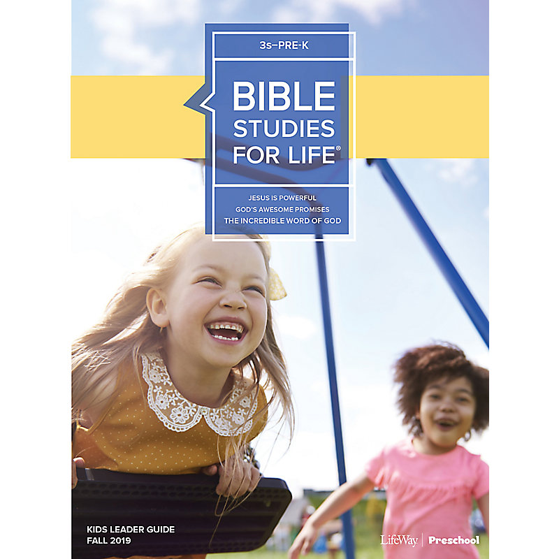 Bible Studies For Life: 3s–Pre-K Leader Guide Fall 2019