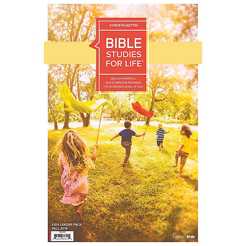 Bible Studies For Life: Kindergarten Leader Pack Fall 2019