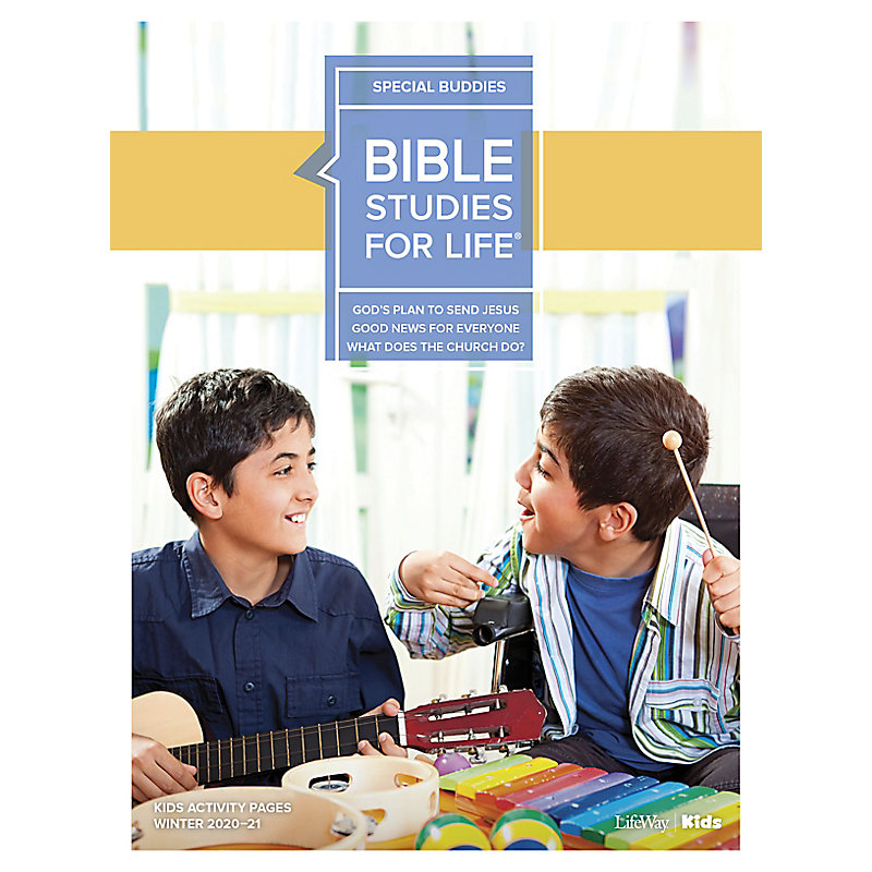 Bible Studies for Life: Kids Special Buddies Kids Activity Pages Winter 2021