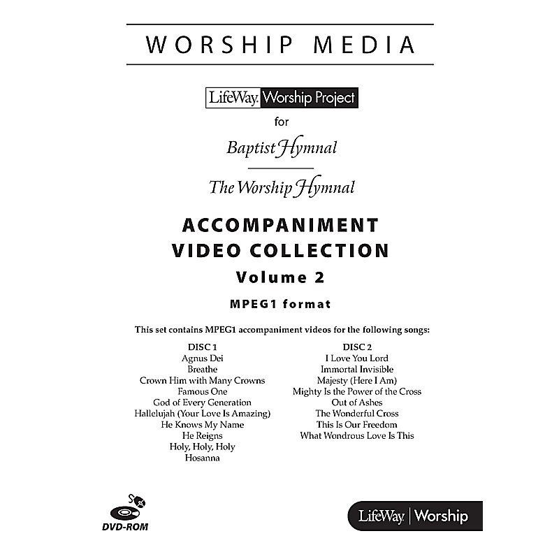LifeWay WorshipMedia - MPEG1 Accompaniment Video Collection DVD-ROM, Volume  2