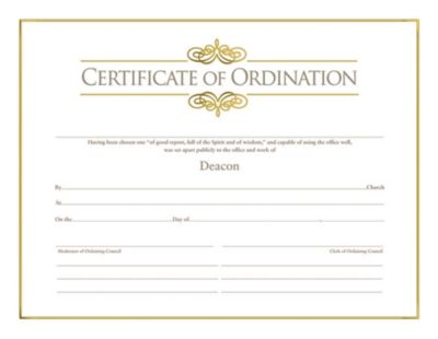 Certificates for Churches - LifeWay