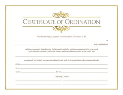 graphic relating to Free Printable Minister License Certificate known as Church Certificates Subscription, Baptism, Sunday College and