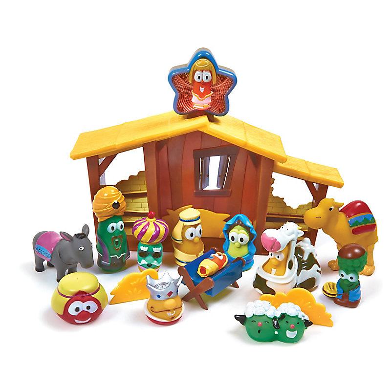 VeggieTale Nativity Play Set