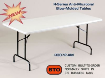 36 INCH COUNTER HEIGHT/STANDING HEIGHT FOLDING WORK TABLES (MODEL RS3072)
