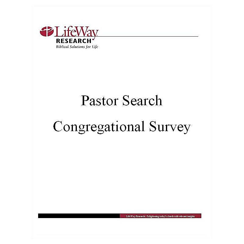 Pastor Search Congregational Survey