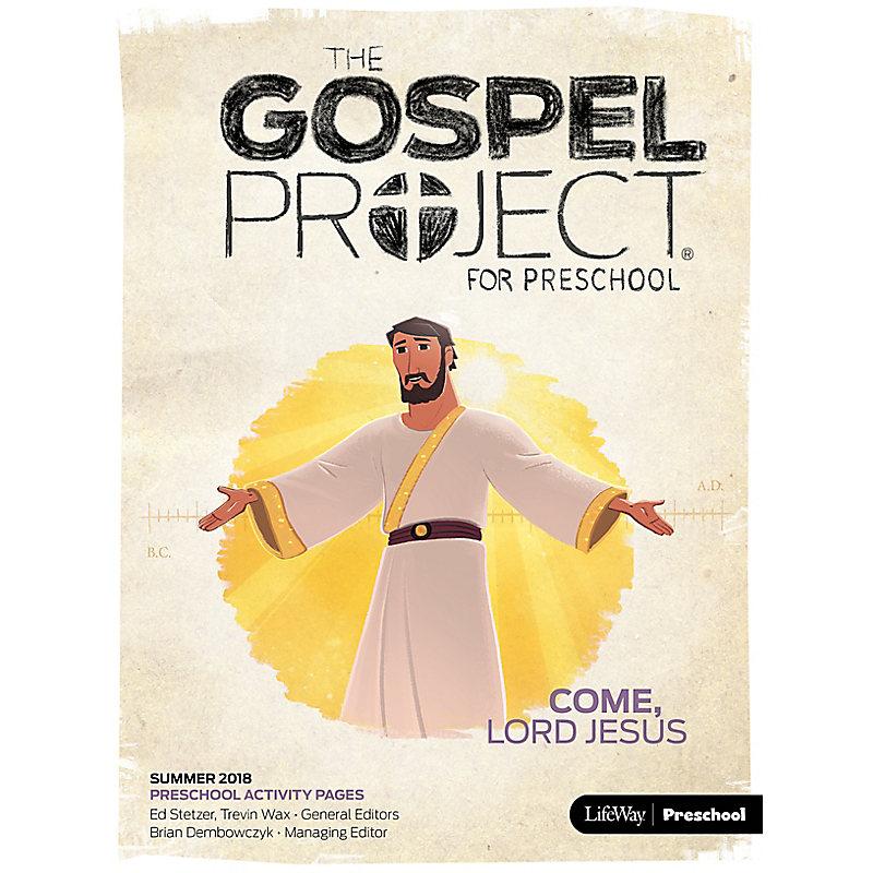 The Gospel Project for Preschool: Preschool Activity Pages Summer 2018