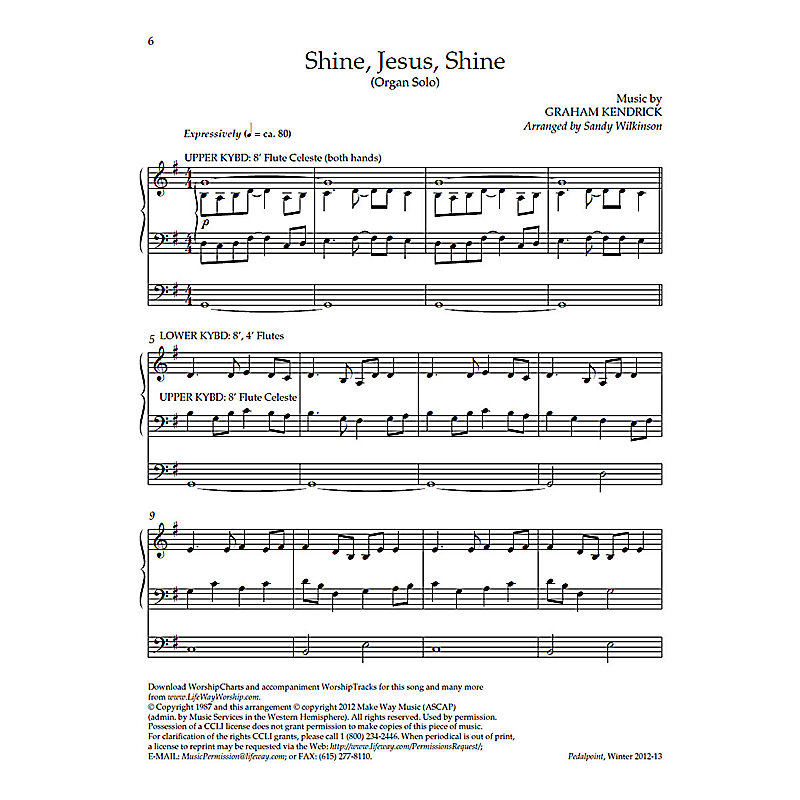 Shine, Jesus, Shine - Downloadable Organ Arrangement