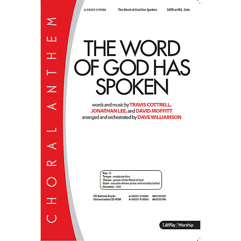 The Word of God Has Spoken - Downloadable Orchestration