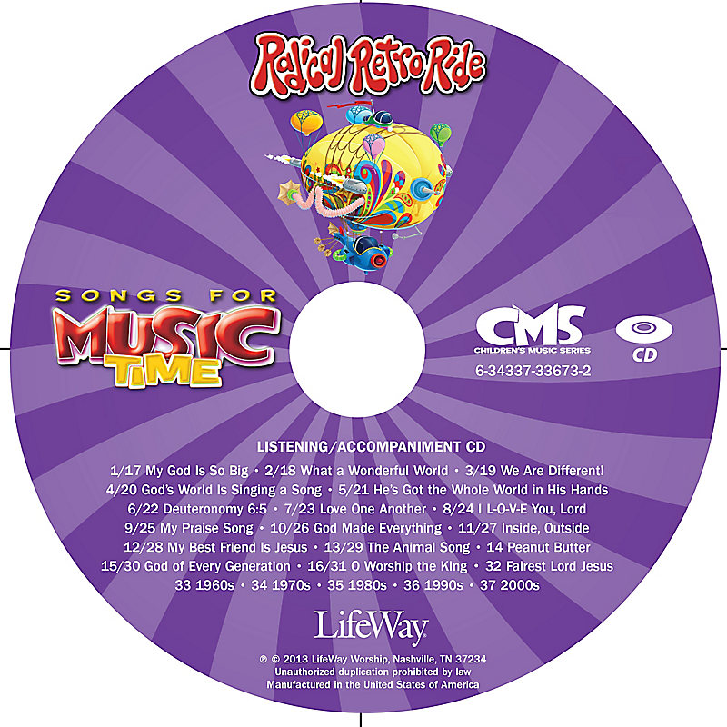 Music Time: Radical Retro Ride - Accompaniment CD