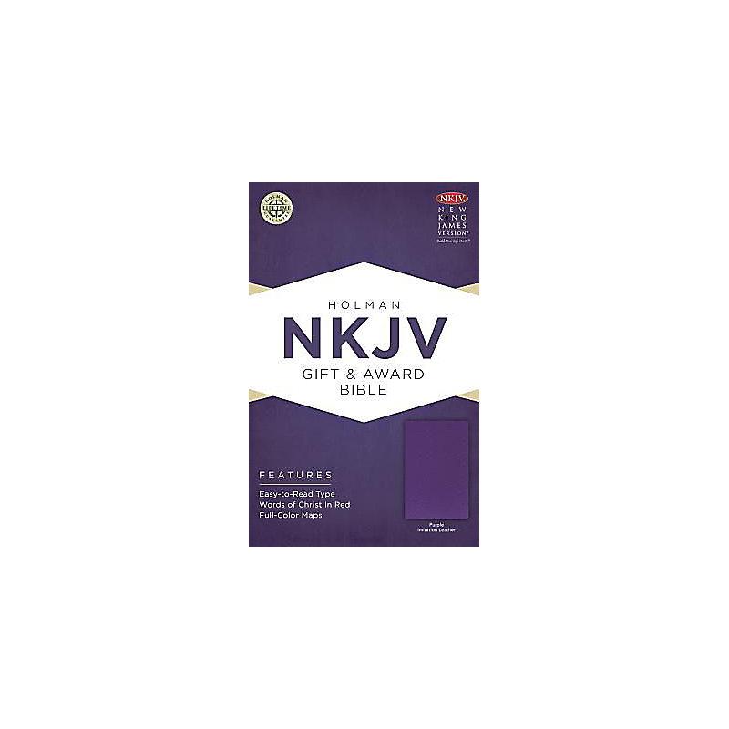 NKJV Gift & Award Bible, Purple Imitation Leather