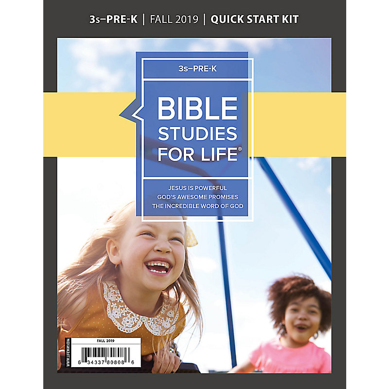 Bible Studies For Life: 3s–Pre-K Quick Start Kit Fall 2019
