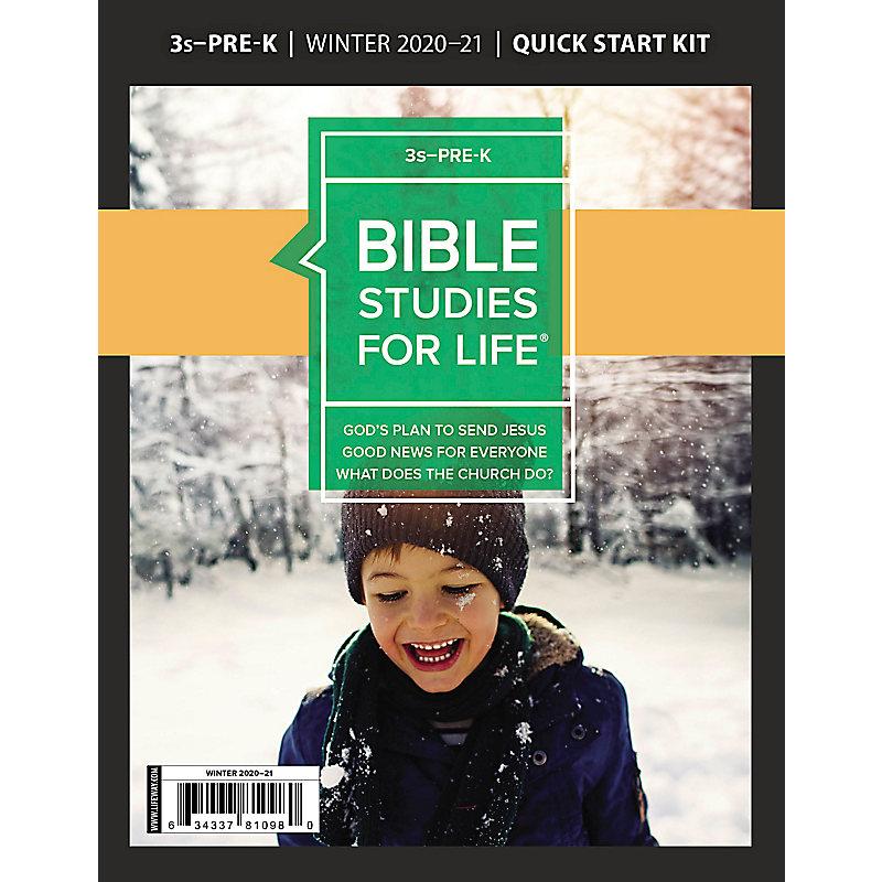 Bible Studies for Life: 3s–Pre-K Quick Start Kit Winter 2021