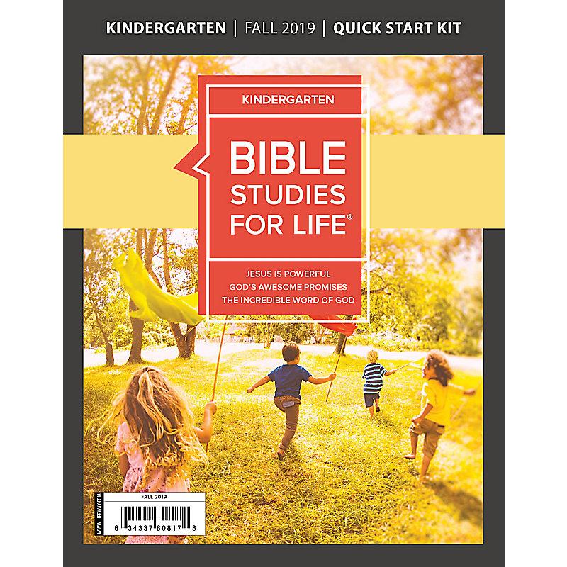Bible Studies For Life: Kindergarten Quick Start Kit Fall 2019