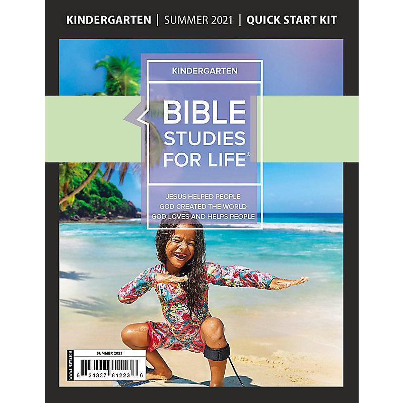 Bible Studies For Life: Kindergarten Quick Start Kit Summer 2021