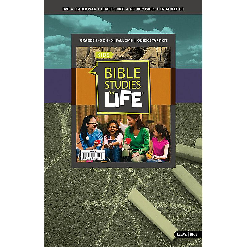 Bible Studies for Life: Kids Grades 1-3 & 4-6 Quick Start Kit - CSB/KJV -  Fall 2018