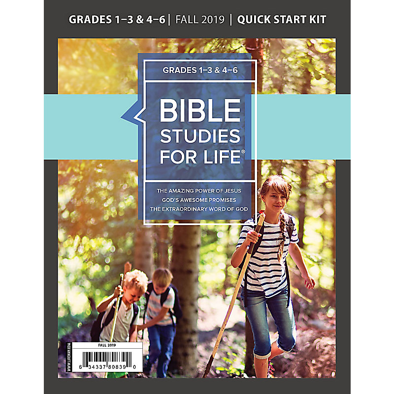 Bible Studies For Life: Kids Grades 1-3 & 4-6 Quick Start Kit - CSB/KJV - Fall 2019