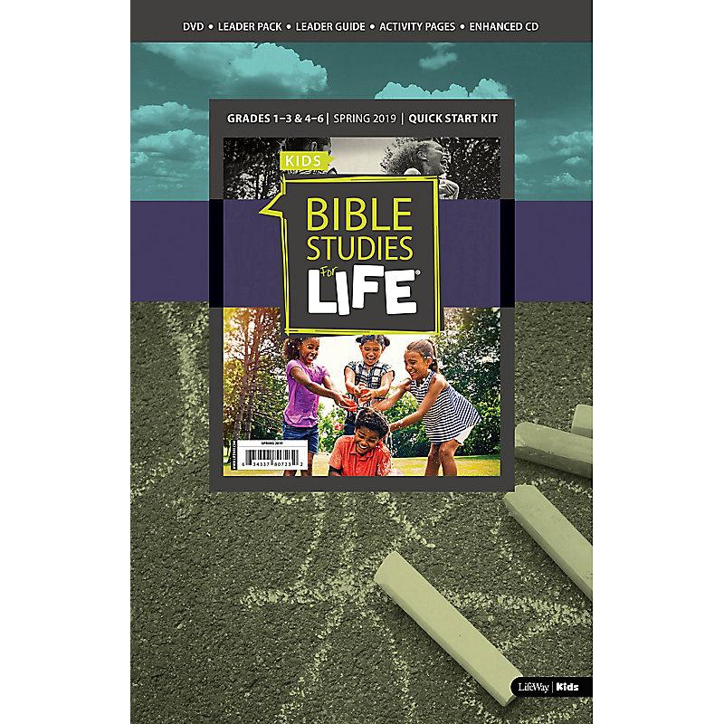 Bible Studies For Life: Kids Grades 1-3 & 4-6 Quick Start Kit - CSB/KJV - Spring 2019