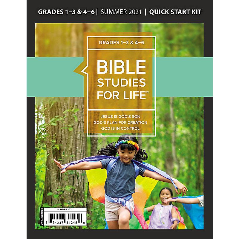 Bible Studies For Life: Kids Grades 1-3 & 4-6 Quick Start Kit - CSB/KJV - Summer 2021