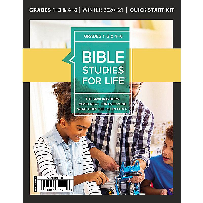 Bible Studies for Life: Kids Grades 1-3 and 4-6 Quick Start Kit - CSB/KJV - Winter 2021