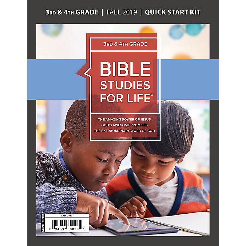 Bible Studies for Life: Kids Grades 3-4 Quick Start Kit Fall 2019