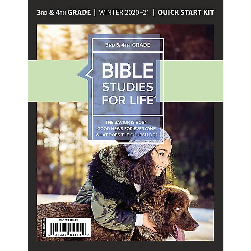Bible Studies for Life: Kids Grades 3-4 Quick Start Kit Winter 2021