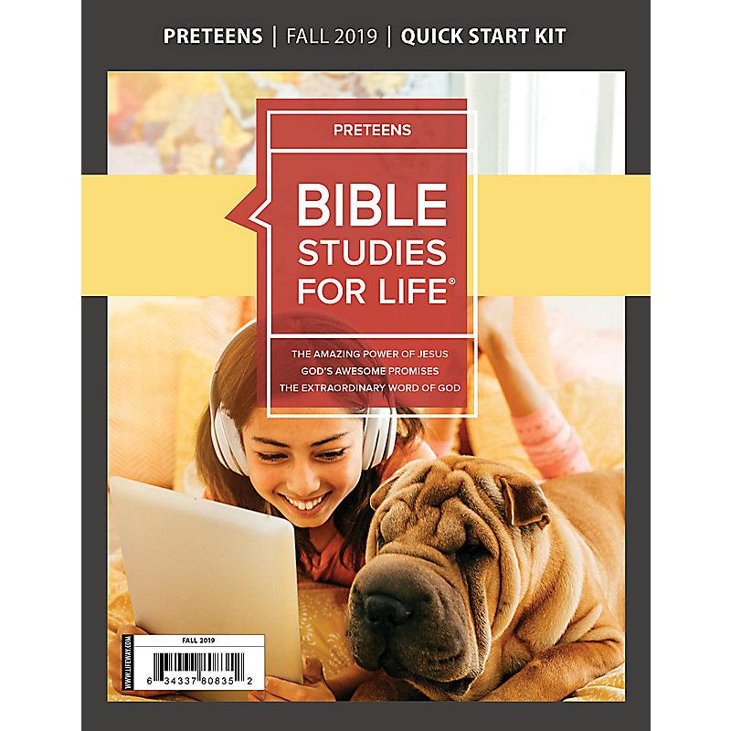 Bible Studies For Life: Preteens Quick Start Kit Fall 2019