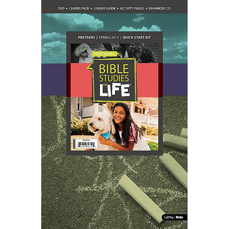 Bible Studies For Life: Preteens Quick Start Kit Spring 2019