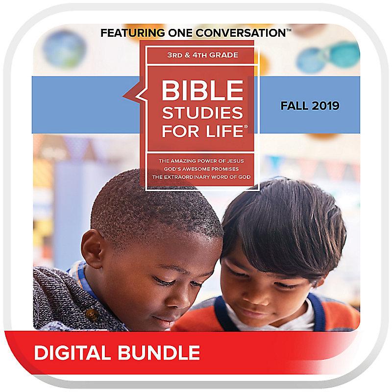Bible Studies for Life: Kids Grades 3-4 Leader Pack Digital Fall 2019