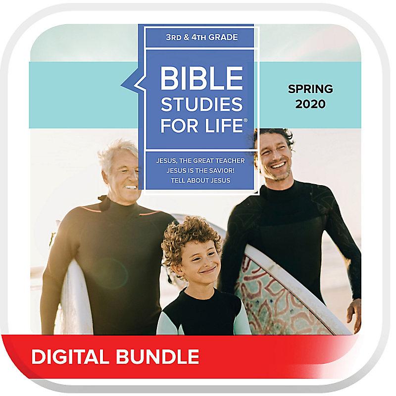 Bible Studies for Life: Kids Grades 3-4 Leader Pack Digital Spring 2020