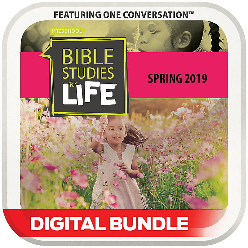 Bible Studies for Life: 3s-Pre-K Leader Guide/Activity Pages  Spring 2019