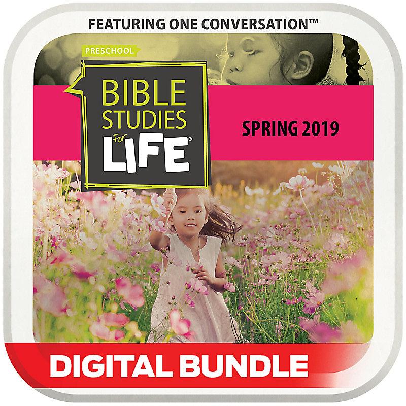 Bible Studies for Life: 3s-Pre-K Leader Pack Digital Spring 2019