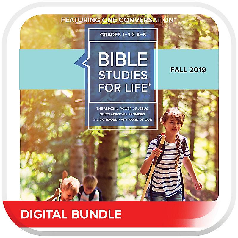 Bible Studies for Life: Kids Grades 1-3 and 4-6 Leader Pack Digital CSB/KJV Fall 2019