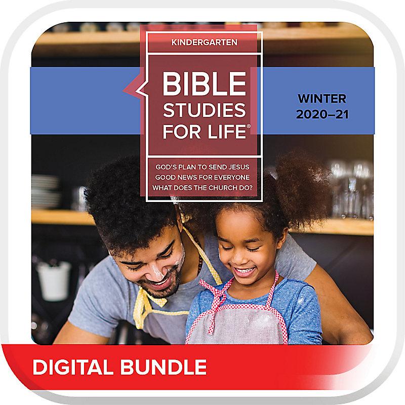 Bible Studies for Life: Kindergarten Leader Guide/Activity Pages  Winter 2021