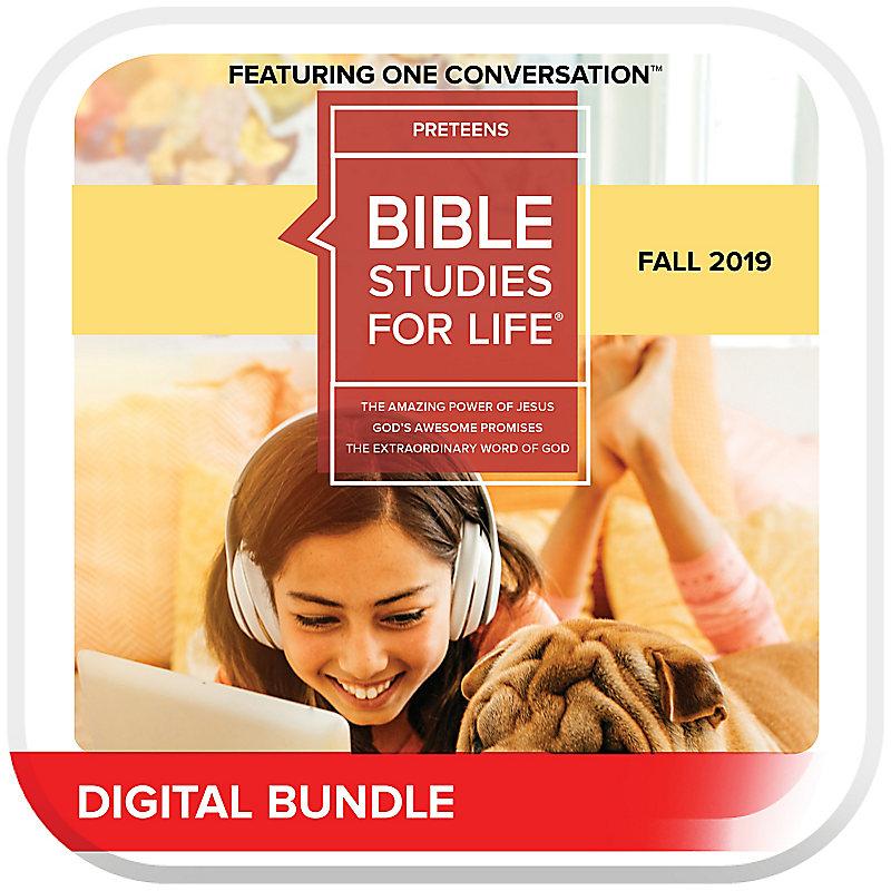 Bible Studies for Life: Preteens Leader Pack Digital Fall 2019