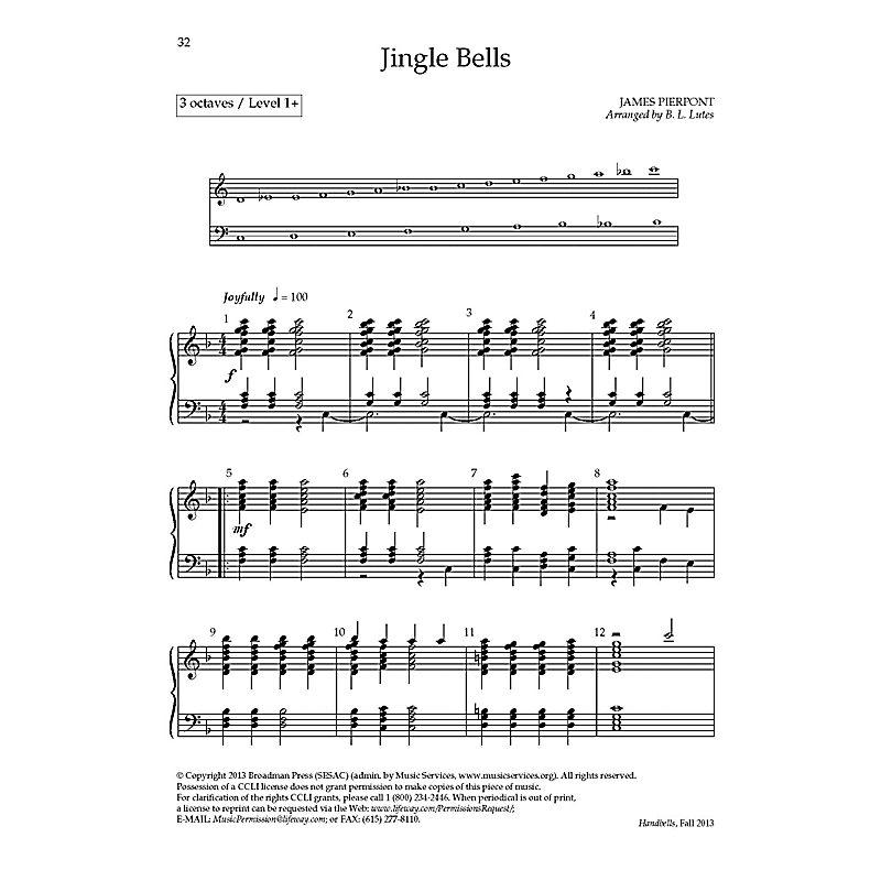 Jingle Bells - Downloadable Handbells Arrangement - LifeWay