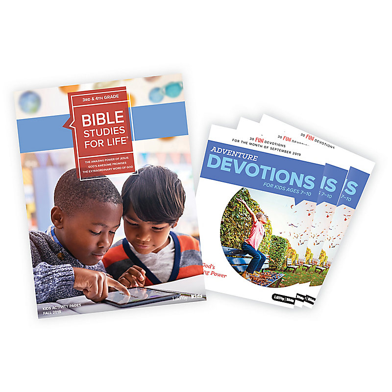 Bible Studies for Life: Kids Grades 3-4 Activity Pages/Adventure Bundle Fall 2019
