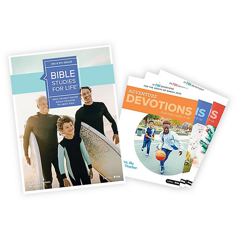 Bible Studies for Life: Grades 3-4 Activity Pages/Adventure Bundle Spring 2020