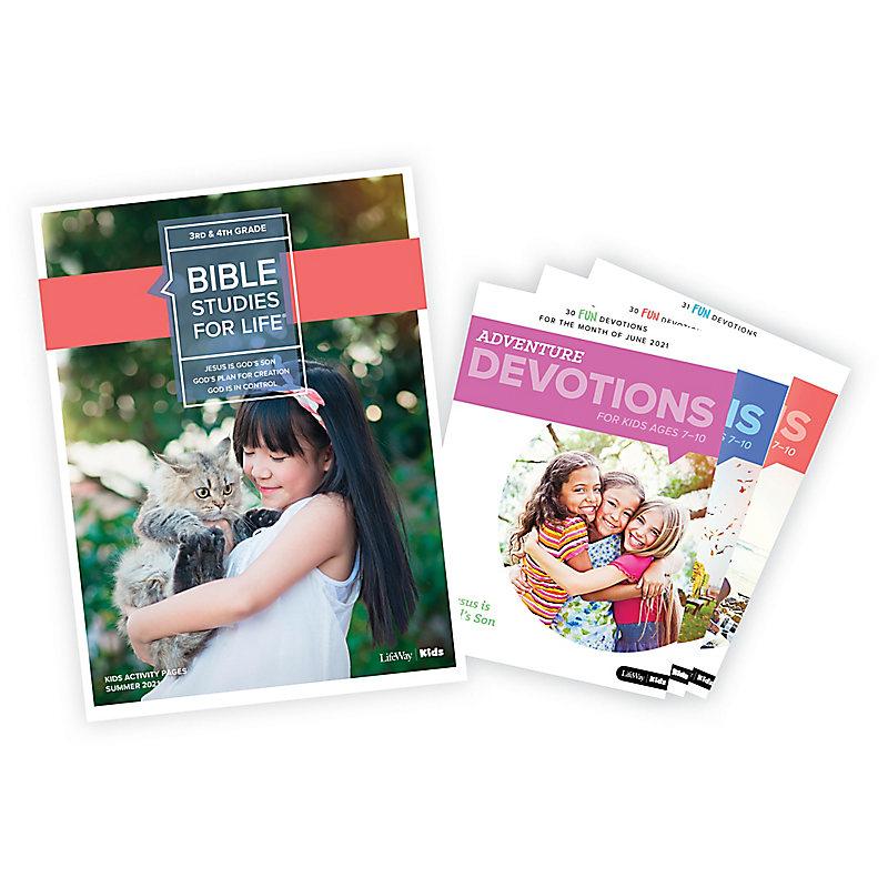 Bible Studies for Life: Grades 3-4 Activity Pages/Adventure Bundle Summer 2021