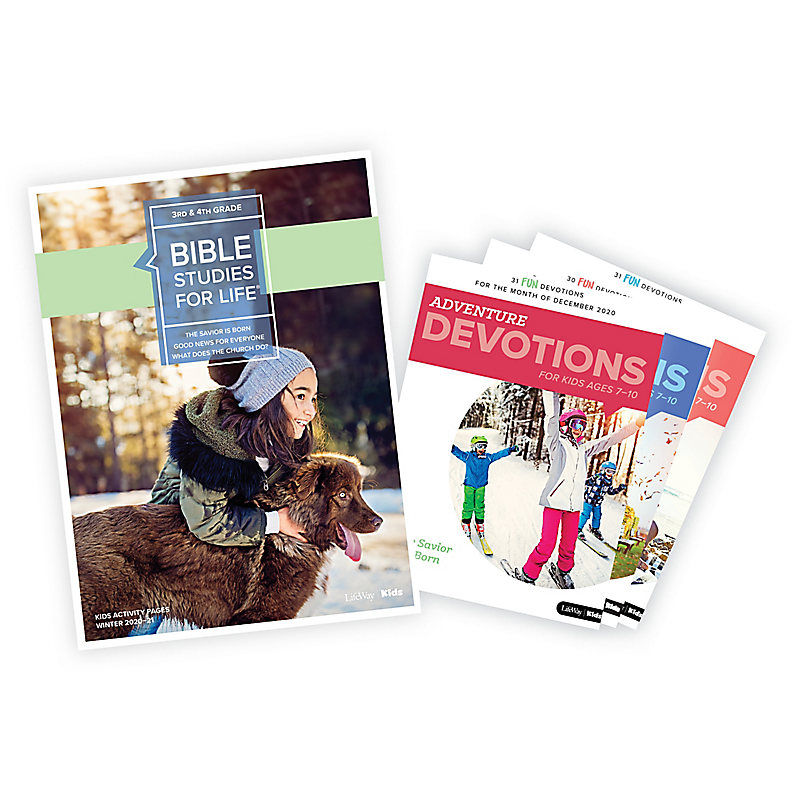 Bible Studies for Life: Grades 3-4 Activity Pages/Adventure Bundle Winter 2021