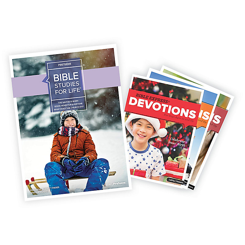 Bible Studies for Life: Preteen Activity Pages/Bible Express Bundle Winter 2021
