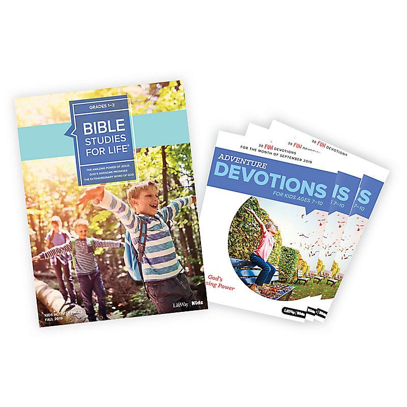 Bible Studies for Life: Grades 1-3 Activity Pages/Adventure Bundle Fall 2019