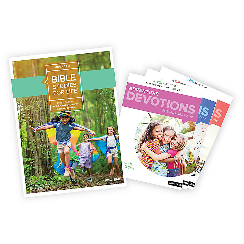 Bible Studies for Life: Grades 1-3 Activity Pages/Adventure Bundle Summer 2021