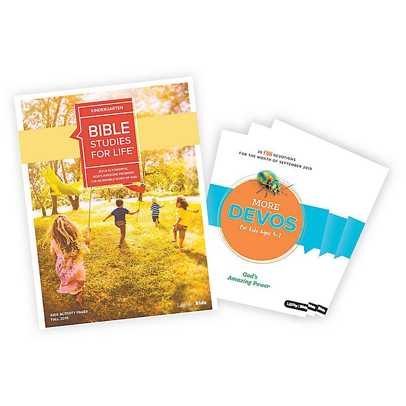 Bible Studies for Life: Kids Kindergarten Activity Pages/More Bundle Fall 2019