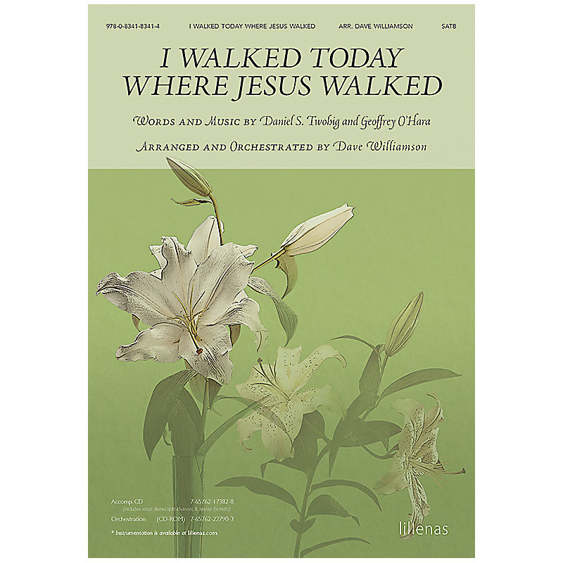 I Walked Today Where Jesus Walked - Orchestration CD-ROM